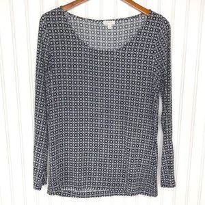 Soft Joie Long Roll Tab Sleeve Blouse Size M